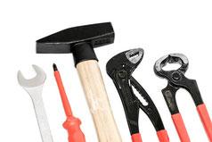 benötigte Werkzeuge für den Werkzeugkasten