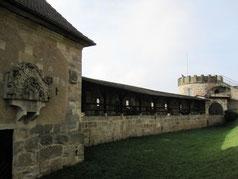 Altenburg, Ringmauer mit Amalienklause und Bärenturm