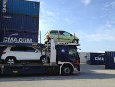 Pré-transport de voitures par conteneur France-Réunion