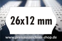 Etiketten 26x12 mm