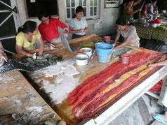Filzproduktion in Kathmandu