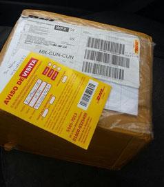 Este es mi paquete que llego por DHL