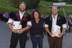 v. Thomas Sempach, Gemeindepräsidentin Sandra Nussbaum und Michael Moser