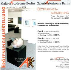 """Einladung zur Ausstellung """"New European Art"""""""