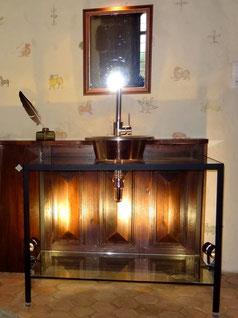 weekend insolite salle de bains de la chambre médiévale La Tour de Guet