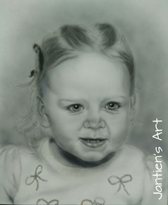 Portret airbrush op canvas