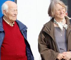 Gerhard Güttel und Tochter Brigitte Otto zum Museumstag in Rothenburg/Neiße,  IG Luftfahrt 152