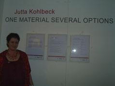 Foto zur Ausstellung : One material several options  Art Quilts und Gedichte von Jutta Kohlbeck in Aberdeen Schottland