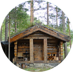Einsame Hütte in Norwegen Schweden Finnland