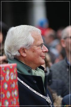 Oud-Burgemeester Giel Janssen tijden de sinterklaasintocht 2016