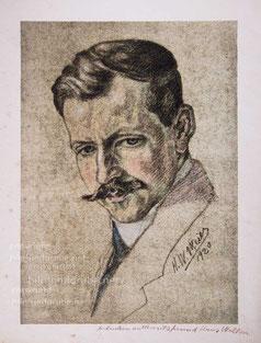 Mischtechnik, Das Portrait zeigt Hans Walker