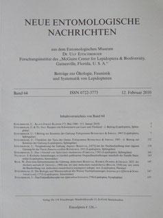 Neue Entomologische Nachrichten Eitschberger 2010