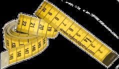Cómo tejer en dos agujas o palitos: cinta métrica