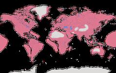 Karte zur Verbreitung der Schnepfenvögel