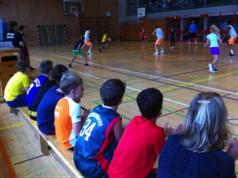 Die THG-AG spielte gegen das Bundesligateam