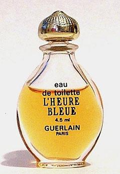"""L'HEURE BLEUE - FLACON OVOÏDE DIT """"GOUTTE"""" : EAU DE TOILETTE 4,2 ML - VARIANTE G."""