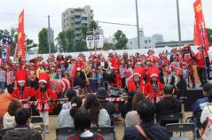 幸村博オープニングは三光神社の枕太鼓