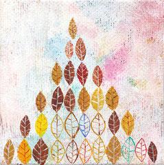 2015年 「落ち穂山」(71×71mm) キャンバス・アクリル絵の具