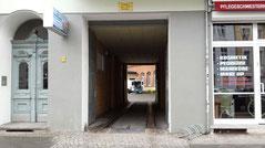 Zugang Eberswalderstraße Physiotherapiepraxis Pernzlauer Berg