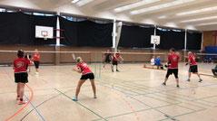 Badminton Mannschaftsspiel der BBMM in Berlin Köpenick
