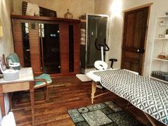 salle de sauna et massage