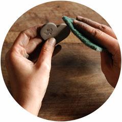 bague femme ceramique artisanale
