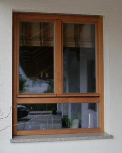 Isolierglasfenster, Einfachfenster, Holzfenster, schmale Profile, Holz