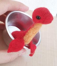 羊毛フェルト 金魚 ドラゴン 金魚龍