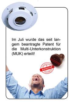 Patent Multi-Unterkonstruktion im Juli 2014