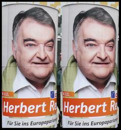Europawahlen 2014, CDU Rheinisch-Bergischer Kreis, Herbert Reul ; Aussenwerbung ; mobile  Werbesäule ; Reklame ; Werbung ; mobile Außenwerbung ; refix GmbH ; advertising ; pillar ; column ; günstig; inovation ; einzigartig ; unique