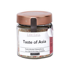 Glas mit Kupferdeckel gefüllt mit Kräutersalz Taste of Asia