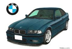 BMWの車絵イラスト