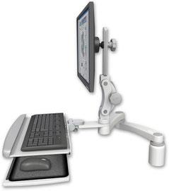 デスクマウント ディスプレイキーボード用アーム VESA:ASUL550-D3-KDP-A2