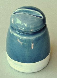 Isolatore italiano in porcellana azzurra