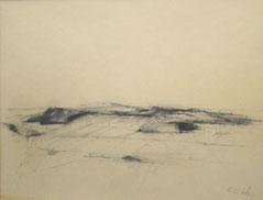 """Karl Korab,  """"Zeichnungen"""", 1985, Kohle / Bütten,  45x60cm"""