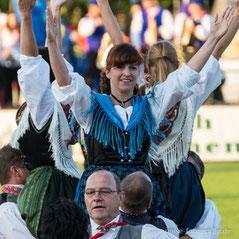 Eröffnungsveranstaltung der 50. Europeade in Gotha im Gothaer Volksparkstadion