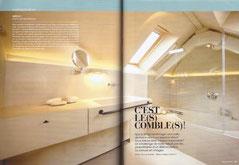 LA VILLA b&b bruxelles salle de bain dans le magazine  Déco-idées