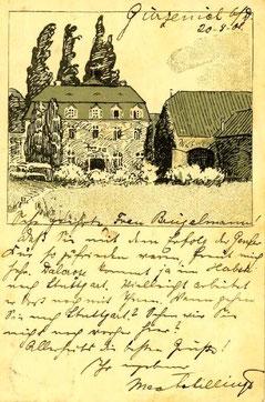 Karte von Max von Schillings an Hedy, 1909 (Staatsarchiv Ludwigsburg)