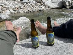 Cool Feet an cool beer!