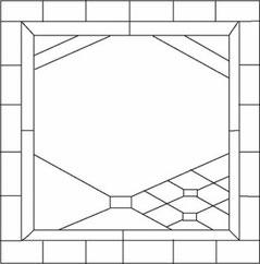 個性的なステンドグラスのデザイン