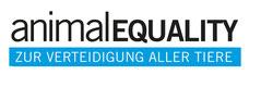 Animal Equality e.V. Logo, zur Verteidigung aller Tiere