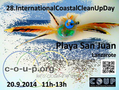 COUP, Beachcleanup, Famara Limpia, Playa, Cleaner Ocean Upcycling Productions www.c-o-u-p.org COUP Cleaner Ocean Upcycling Productions More Profit Organisation Beachcleaners
