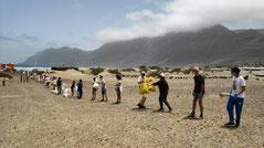 COUP , Lanzarote Limpia, Menschenkette, cadena, solidaria, beachcleanup, Lanzarote