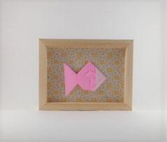 Cadre mural origami Poisson - décoration chambre enfant - cadeau naissance