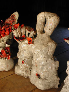 """""""Collection outre Nature"""" porcelaine 90cm de haut 2008 Usa"""