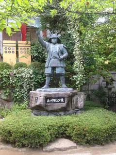 真田幸村公の像(三光神社@大阪市天王寺区)