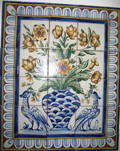 """""""Blumenvase mit Vögel"""" Art.-Nr.: PN-119, Größe: 56x56cm"""