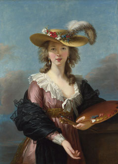Autoportrait au chapeau de paille (après 1792), National Gallery, Londres ( salle 33)