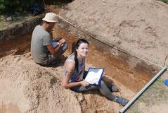 Steinzeit Grabung Laien