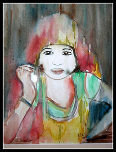 Petite princesse, aquarelle. D.Petit